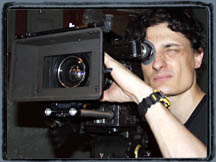 Carl lining up a shot with the Arriflex SR 16mm camera.