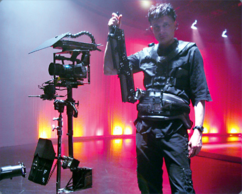 Carl Wiedemann on Steadicam break